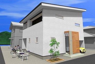 湘南の家 perspective drawing